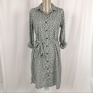 Motherhood Maternity Shirt Dress With Tie Belt